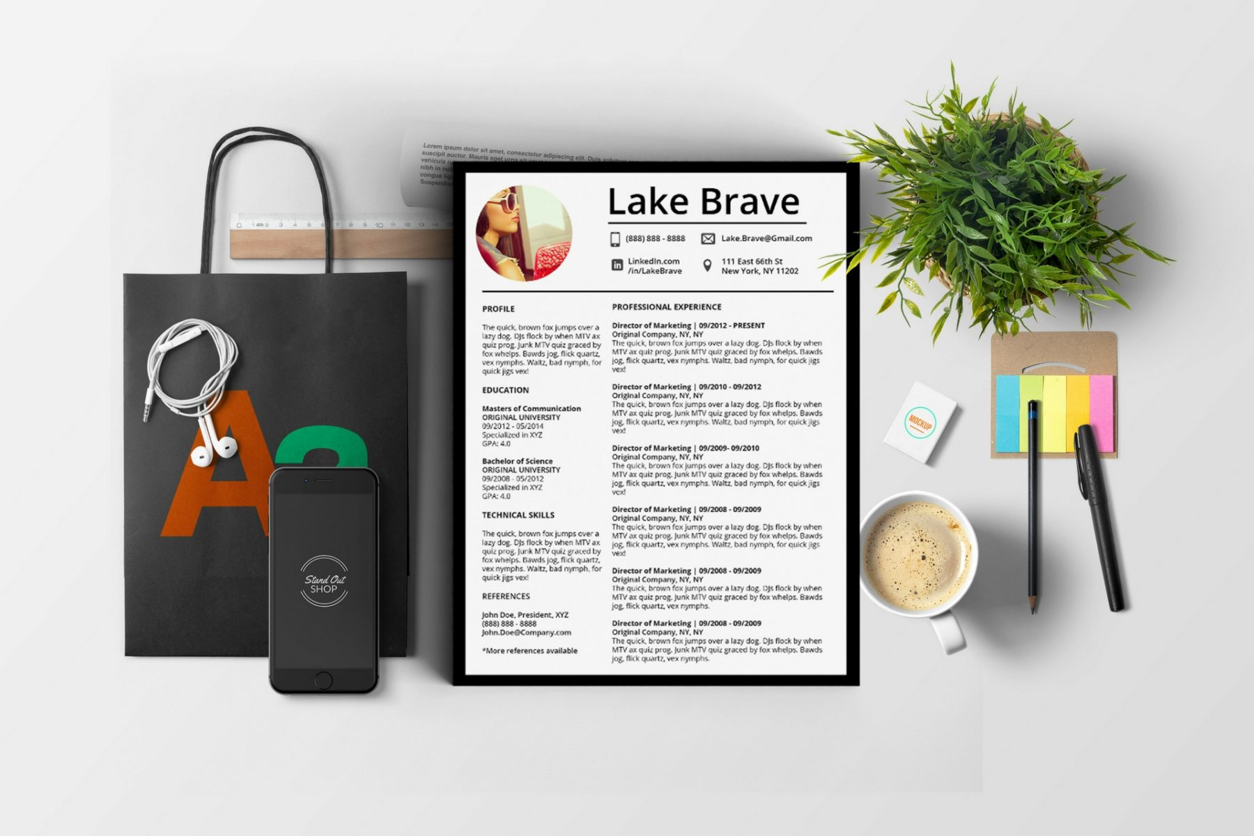 Lake Brave Downloadable Resume + Cover Template and Cover Letter Template for Microsoft Word and Apple Pages. This cover letter template is perfect for anyone in the fashion field. The template's design is a modern, unique, colorful, and professional. WE SWEAT THE DETAILS, SO YOU DON'T HAVE TO Stand Out Shop resume templates for Microsoft Word and Apple Pages will help you design a modern and professional resume in minutes! Simply download, open in Microsoft Word or Apple Pages, and input your resume's information. Increase your chances of landing your dream job with a job winning, modern, simple, and scannable resume template for Microsoft Word and Apple Pages. Creating a resume shouldn't suck Simply download a resume template from Stand Out Shop, enter your information in Microsoft Word or Apple Pages and get a beautifully formatted resume in seconds. Create a unique and vivid resume in minutes. Make an impressive resume. Customize your own layout in Microsoft Word or Apple Pages and introduce yourself in an impressive way. You can download your resume at any time. Stand out from other job seekers with a beautiful professional design.