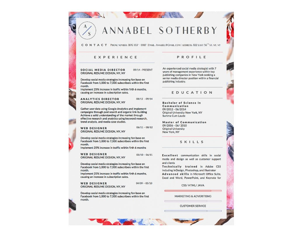 Annabel Sotherby Downloadable Resume + Cover Template and Cover Letter Template for Microsoft Word and Apple Pages. This cover letter template is perfect for anyone in the fashion field. The template's design is a modern, unique, colorful, and professional. WE SWEAT THE DETAILS, SO YOU DON'T HAVE TO Stand Out Shop resume templates for Microsoft Word and Apple Pages will help you design a modern and professional resume in minutes! Simply download, open in Microsoft Word or Apple Pages, and input your resume's information. Increase your chances of landing your dream job with a job winning, modern, simple, and scannable resume template for Microsoft Word and Apple Pages. Creating a resume shouldn't suck Simply download a resume template from Stand Out Shop, enter your information in Microsoft Word or Apple Pages and get a beautifully formatted resume in seconds. Create a unique and vivid resume in minutes. Make an impressive resume. Customize your own layout in Microsoft Word or Apple Pages and introduce yourself in an impressive way. You can download your resume at any time. Stand out from other job seekers with a beautiful professional design.