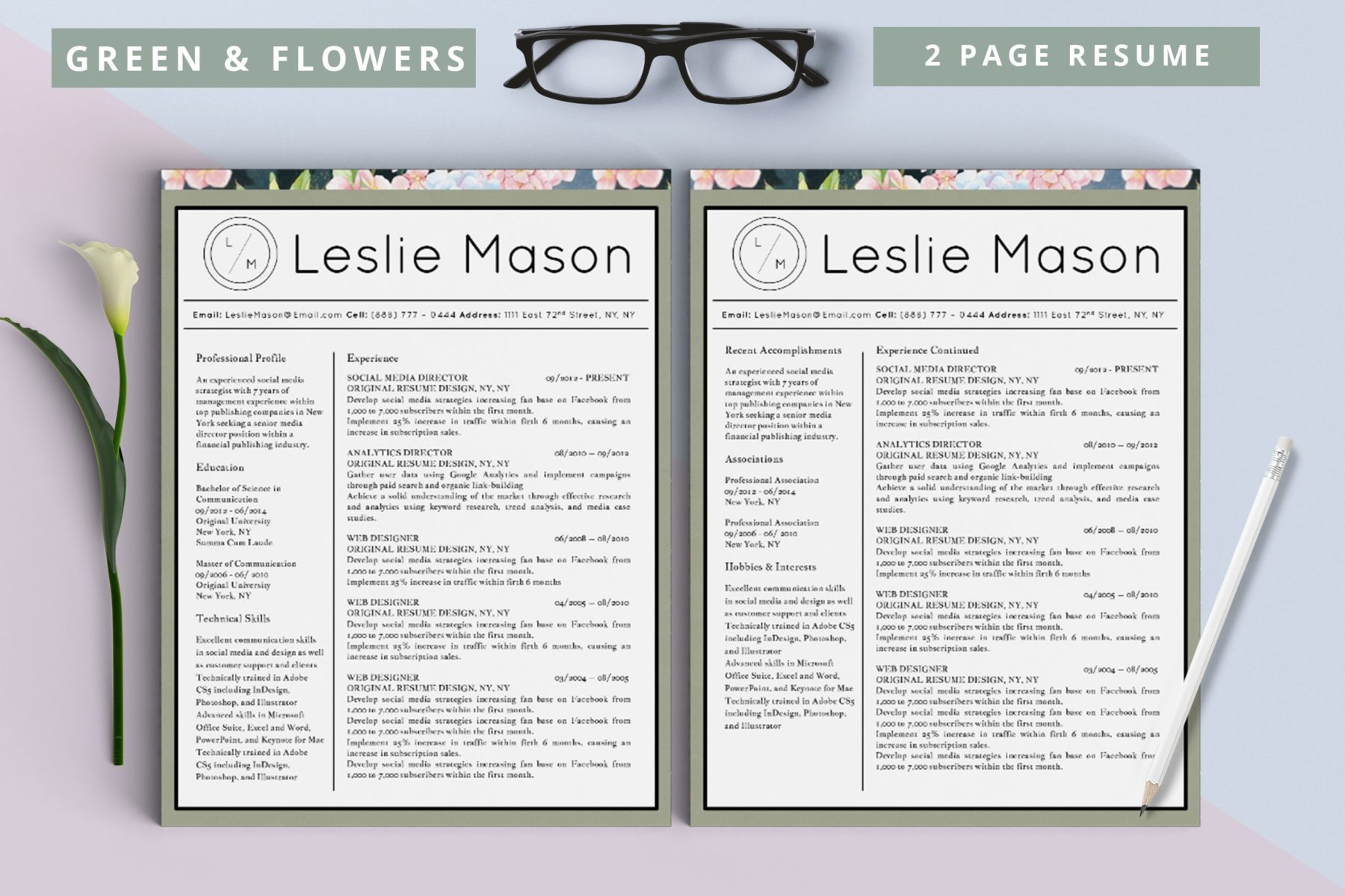 Leslie Mason Beautiful Resume  Pack  Stand Out Shop