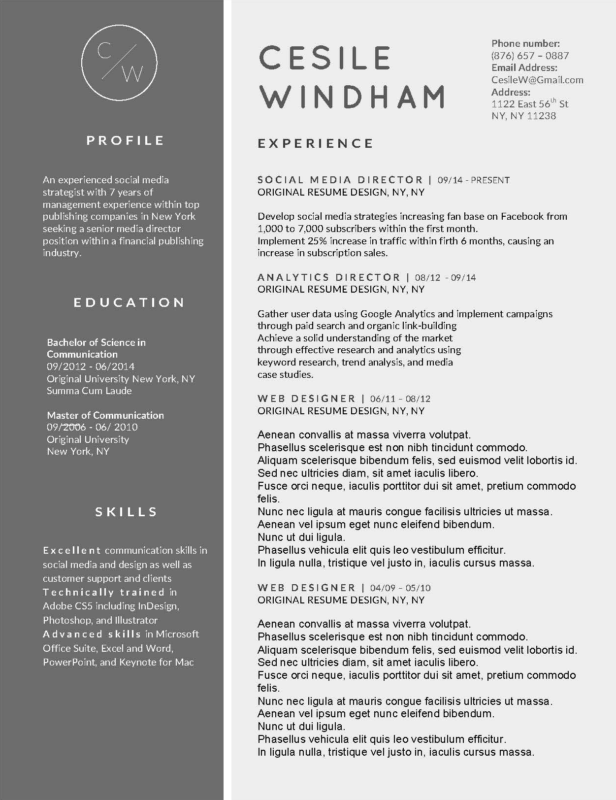 Cesile Windham - Downloadable Resume Template for Microsoft Word and Apple Pages