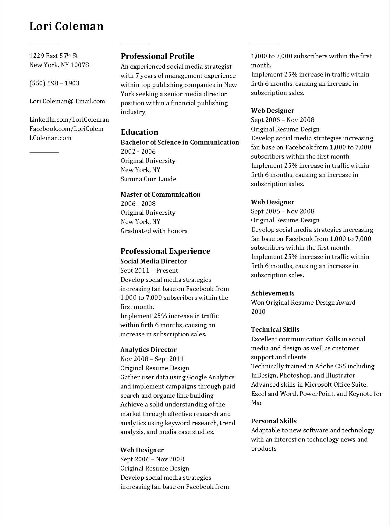Resume help in microsoft word
