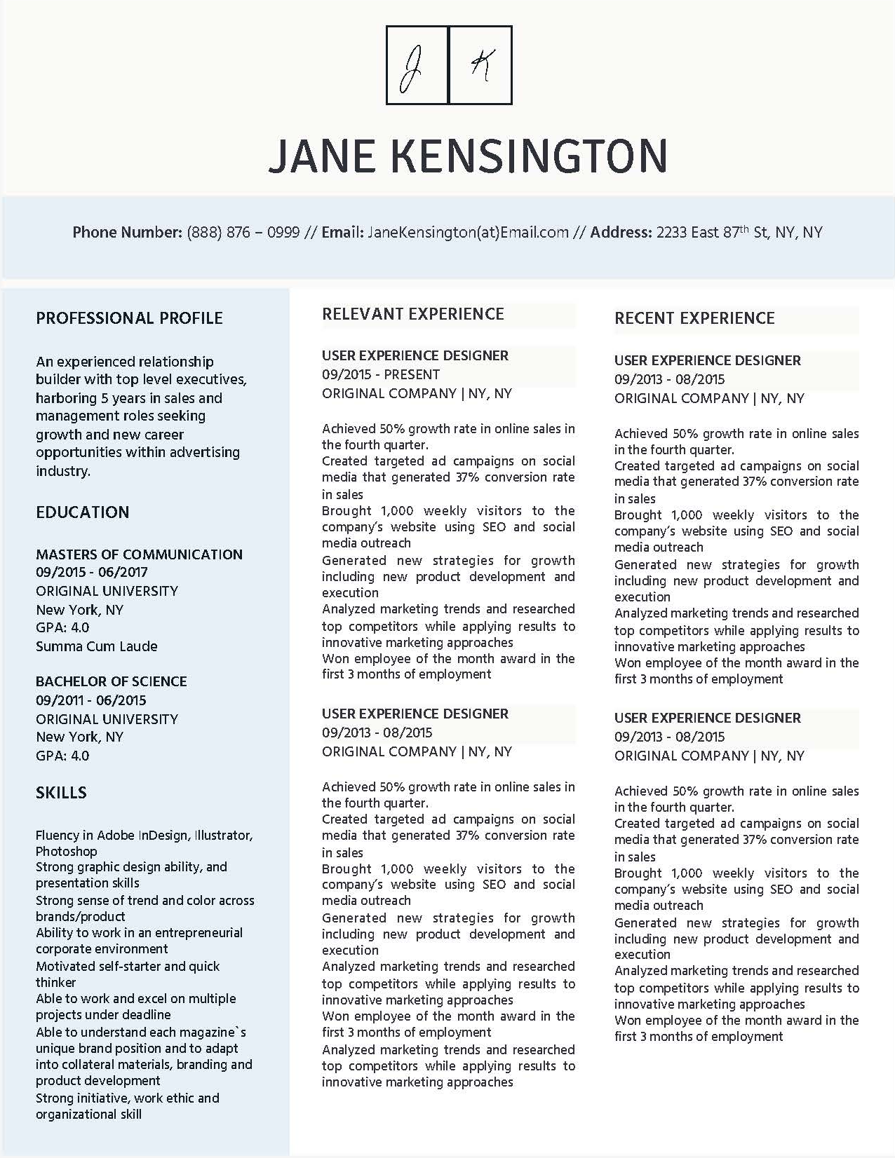 Jane Kensington - Downloadable Resume + Cover Template and Cover Letter Template for Microsoft Word and Apple Pages. This cover letter template is perfect for anyone in the fashion field. The template's design is a modern, unique, colorful, and professional. WE SWEAT THE DETAILS, SO YOU DON'T HAVE TO Stand Out Shop resume templates for Microsoft Word and Apple Pages will help you design a modern and professional resume in minutes! Simply download, open in Microsoft Word or Apple Pages, and input your resume's information. Increase your chances of landing your dream job with a job winning, modern, simple, and scannable resume template for Microsoft Word and Apple Pages. Creating a resume shouldn't suck Simply download a resume template from Stand Out Shop, enter your information in Microsoft Word or Apple Pages and get a beautifully formatted resume in seconds. Create a unique and vivid resume in minutes. Make an impressive resume. Customize your own layout in Microsoft Word or Apple Pages and introduce yourself in an impressive way. You can download your resume at any time. Stand out from other job seekers with a beautiful professional design.