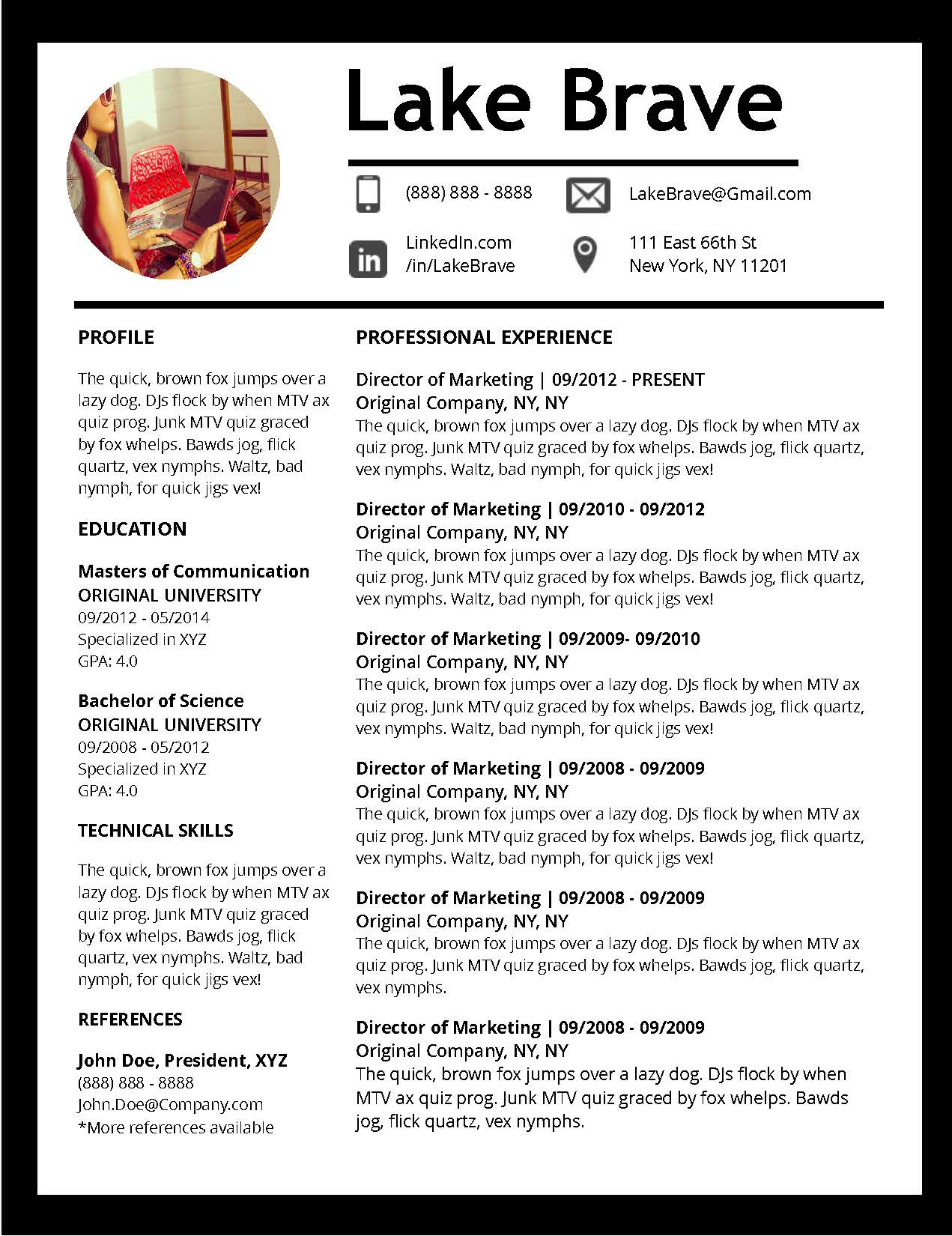 Job Winning Resume Templates for Microsoft Word & Apple Pages