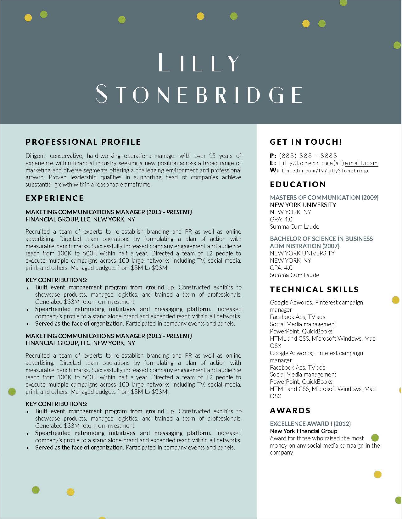 Lilly Stonebridge - Downloadable Resume + Cover Template and Cover Letter Template for Microsoft Word and Apple Pages. This cover letter template is perfect for anyone in the fashion field. The template's design is a modern, unique, colorful, and professional. WE SWEAT THE DETAILS, SO YOU DON'T HAVE TO Stand Out Shop resume templates for Microsoft Word and Apple Pages will help you design a modern and professional resume in minutes! Simply download, open in Microsoft Word or Apple Pages, and input your resume's information. Increase your chances of landing your dream job with a job winning, modern, simple, and scannable resume template for Microsoft Word and Apple Pages. Creating a resume shouldn't suck Simply download a resume template from Stand Out Shop, enter your information in Microsoft Word or Apple Pages and get a beautifully formatted resume in seconds. Create a unique and vivid resume in minutes. Make an impressive resume. Customize your own layout in Microsoft Word or Apple Pages and introduce yourself in an impressive way. You can download your resume at any time. Stand out from other job seekers with a beautiful professional design.