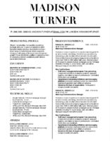 Madison Turner - Downloadable Resume Template and Cover Letter Template for Microsoft Word and Apple Pages