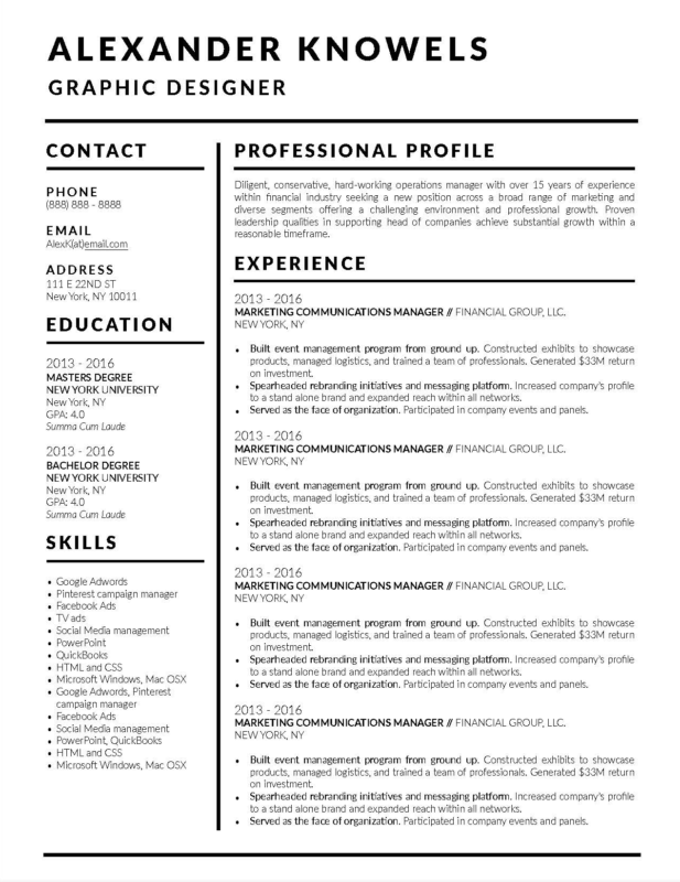 Professional Resume Template 2018.15 Best Resume Examples Of 2018 Career Help Stand Out Shop