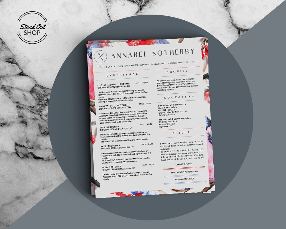 Annabel Sotherby Beautiful Resume Template