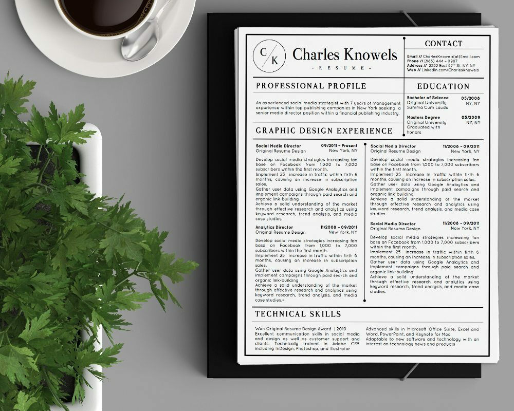 Charles Knowels - Resume Template for Word - 5 Best Clean Resume Templates Word of 2019