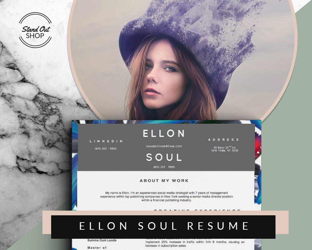 ellon soul beautiful resume template