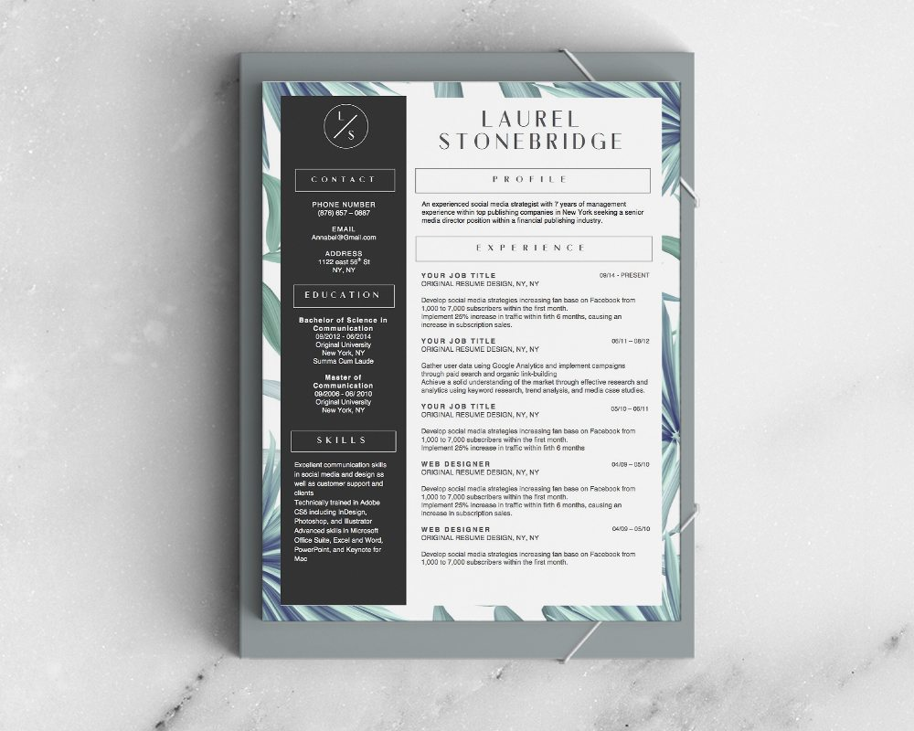 Resume Template Laurel Stonebridge Vol III Resume