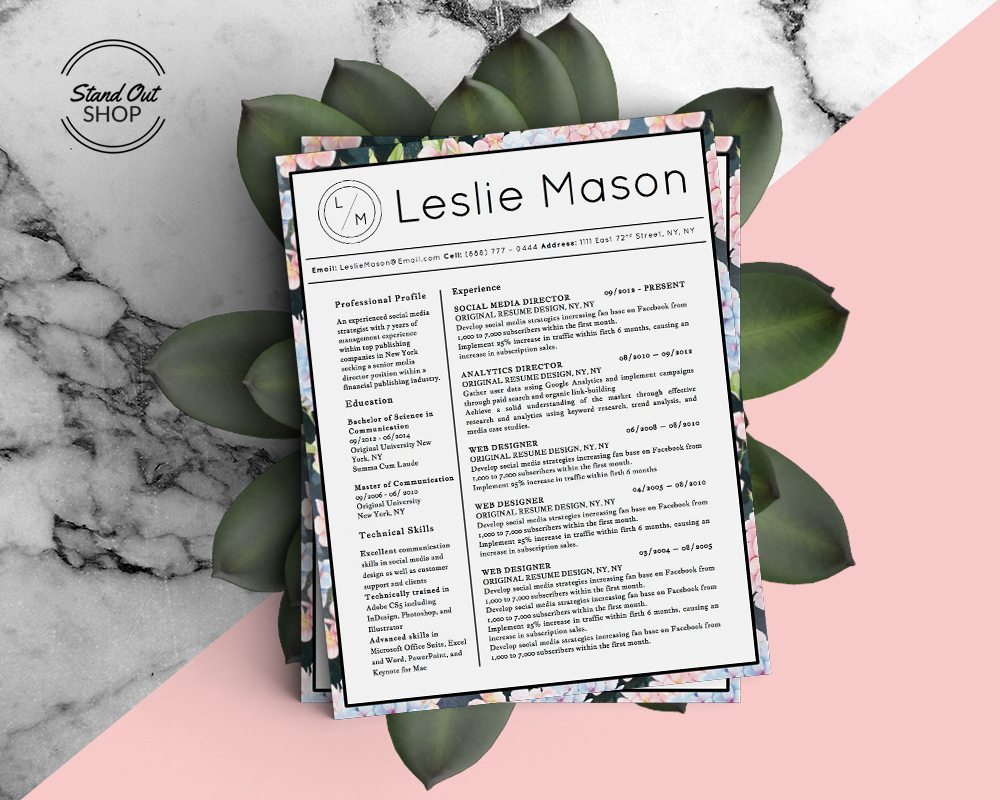 Leslie Mason Beautiful Resume 5 Pack Stand Out Shop