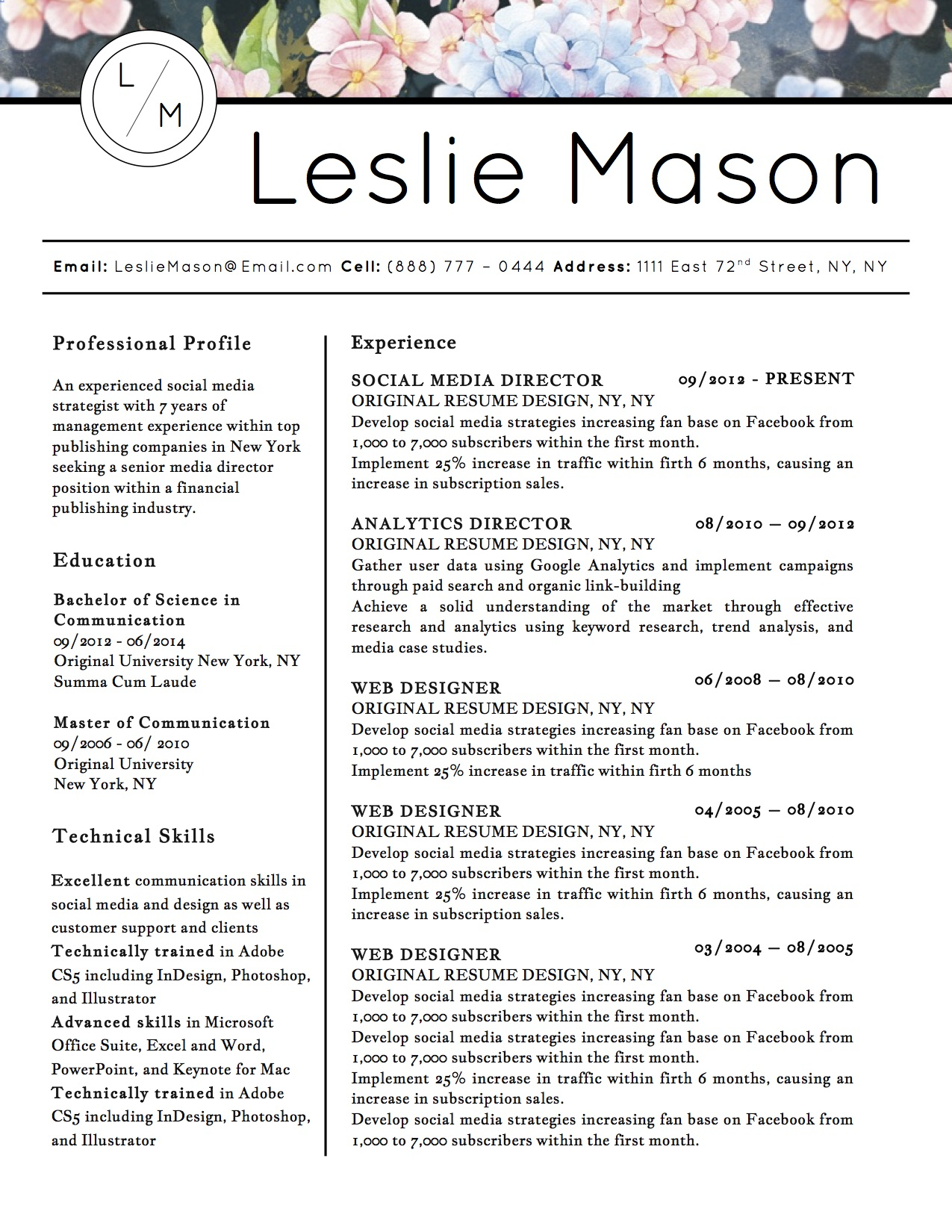 leslie mason downloadable resume cover template and cover letter template for microsoft word and apple - Winning Resume Template