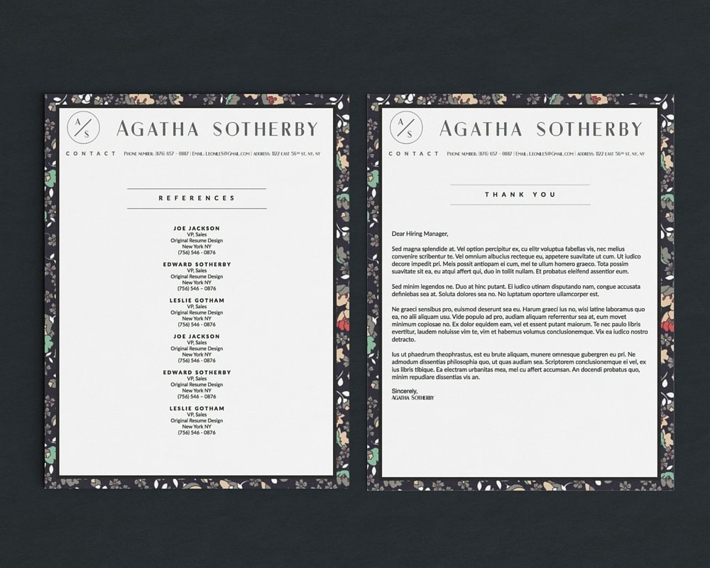 agatha sotherby resume template