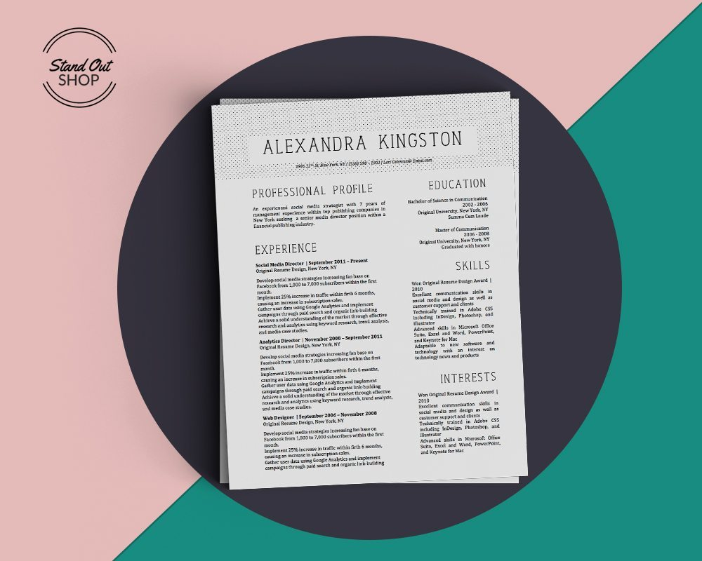 Alexandra kingston resume template stand out shop toneelgroepblik Image collections