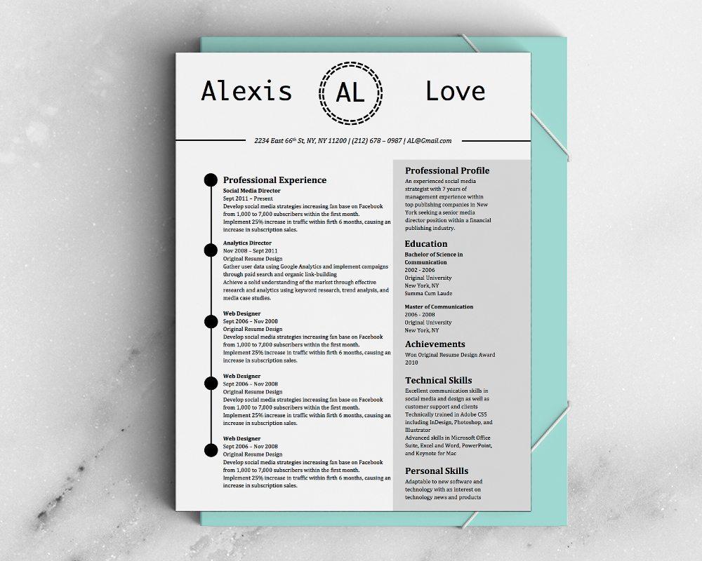 Alexis Love-5 FREE MICROSOFT WORD CV RESUME TEMPLATES