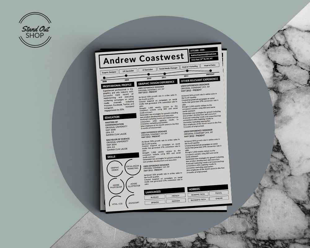 andrew coastwest resume template