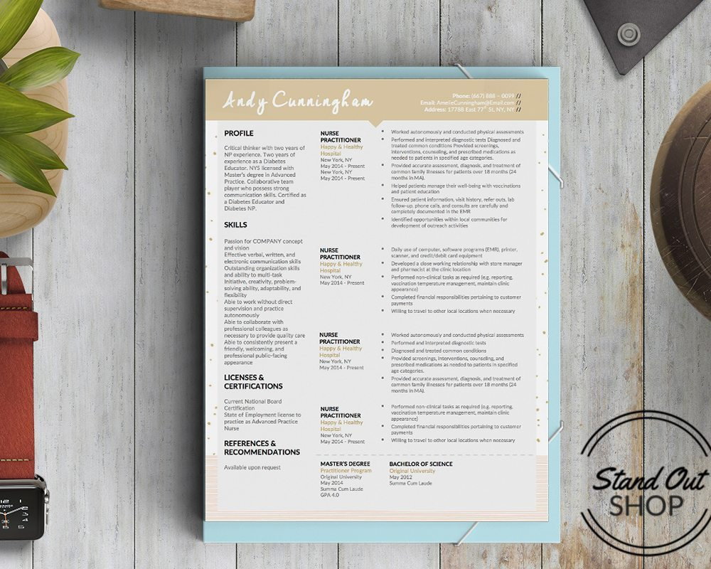 Andy Cunningahm resume cover 101
