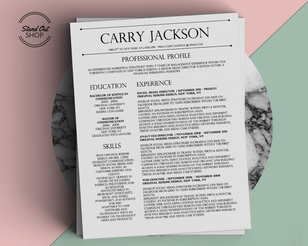 Carry Jackson Marble Cover