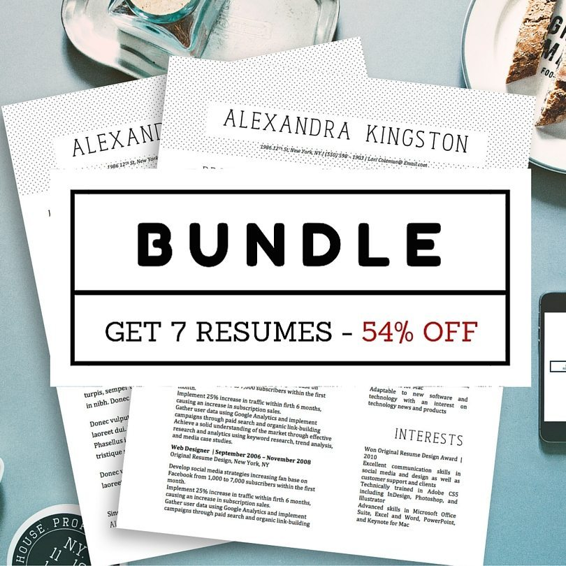 fancy resumes bundle 7 beautiful modern resume templates for microsoft word stand out shop