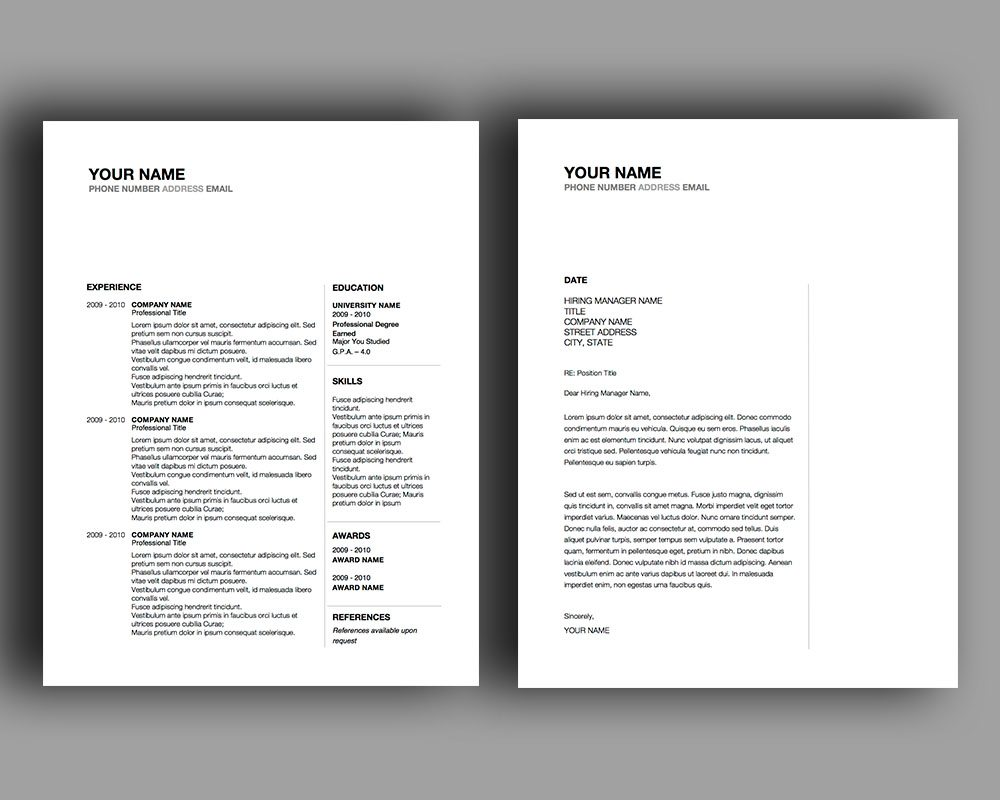 Space In Between Resume Template  Stand Out Shop