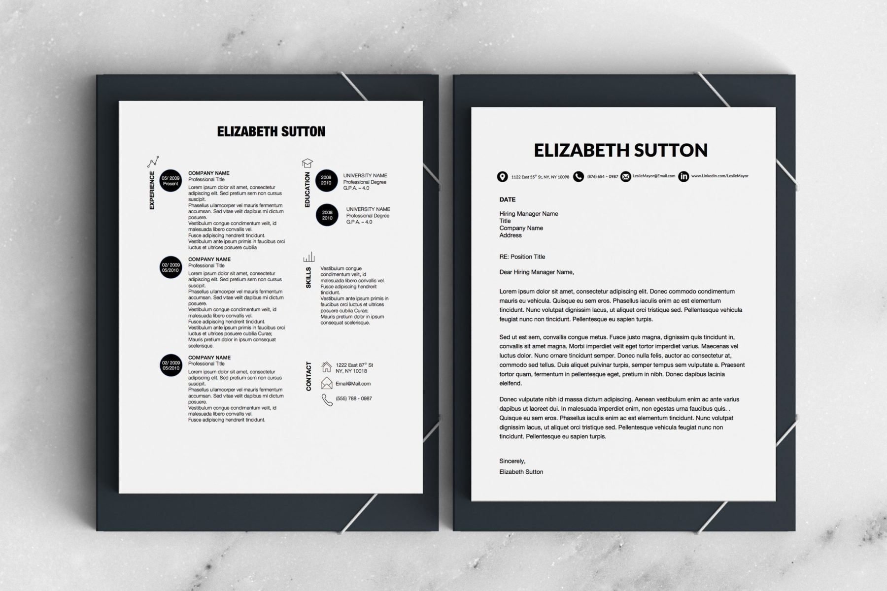 Dots Simple Resume Template Stand Out Shop