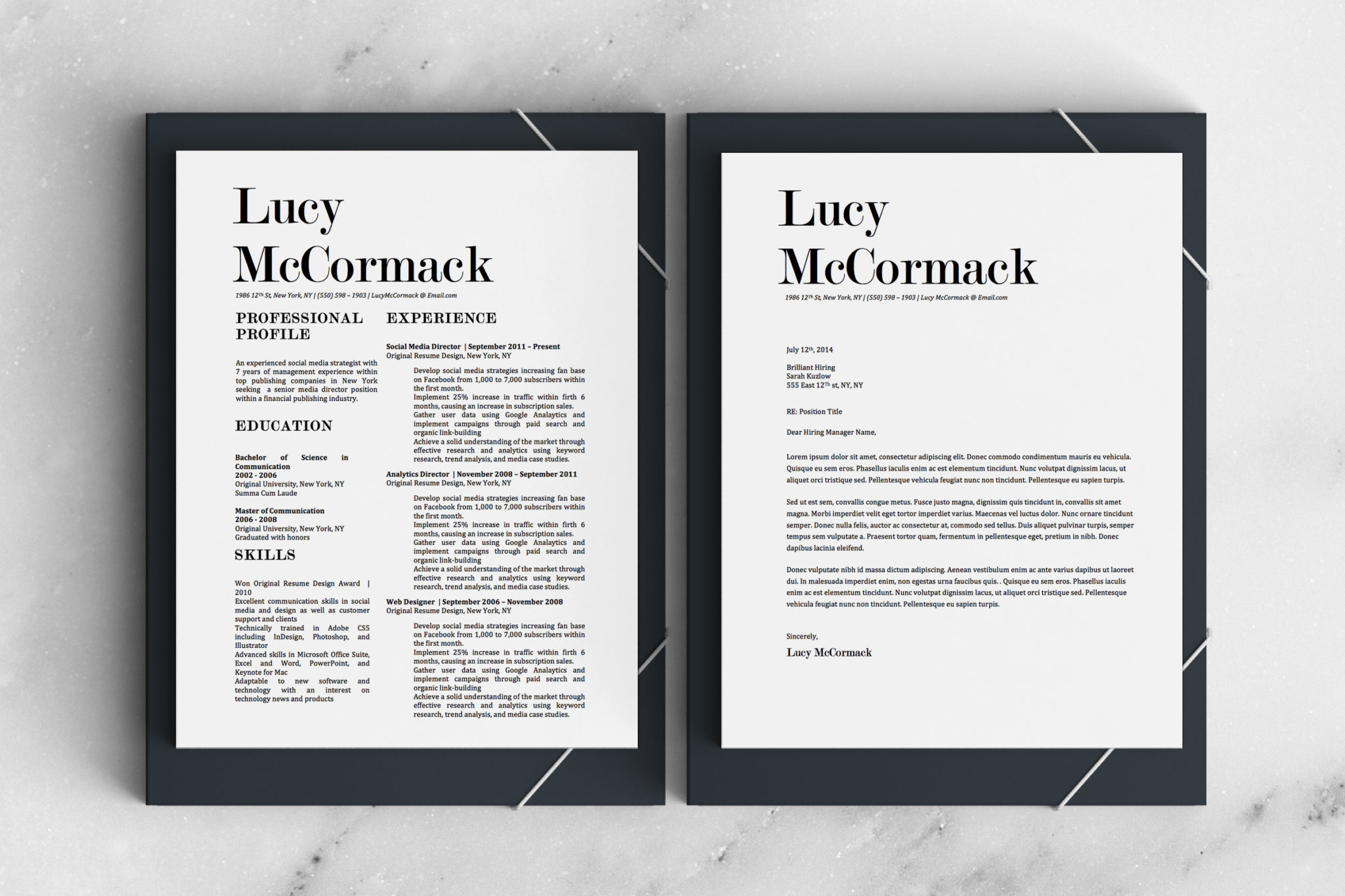 Lucy McCormack Downloadable Resume + Cover Template and Cover Letter Template for Microsoft Word and Apple Pages. This cover letter template is perfect for anyone in the fashion field. The template's design is a modern, unique, colorful, and professional. WE SWEAT THE DETAILS, SO YOU DON'T HAVE TO Stand Out Shop resume templates for Microsoft Word and Apple Pages will help you design a modern and professional resume in minutes! Simply download, open in Microsoft Word or Apple Pages, and input your resume's information. Increase your chances of landing your dream job with a job winning, modern, simple, and scannable resume template for Microsoft Word and Apple Pages. Creating a resume shouldn't suck Simply download a resume template from Stand Out Shop, enter your information in Microsoft Word or Apple Pages and get a beautifully formatted resume in seconds. Create a unique and vivid resume in minutes. Make an impressive resume. Customize your own layout in Microsoft Word or Apple Pages and introduce yourself in an impressive way. You can download your resume at any time. Stand out from other job seekers with a beautiful professional design.