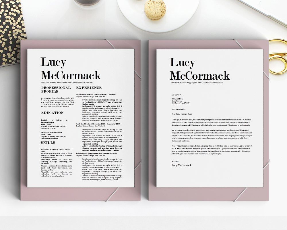 Lucy McCormack Resume Template - Stand Out Shop