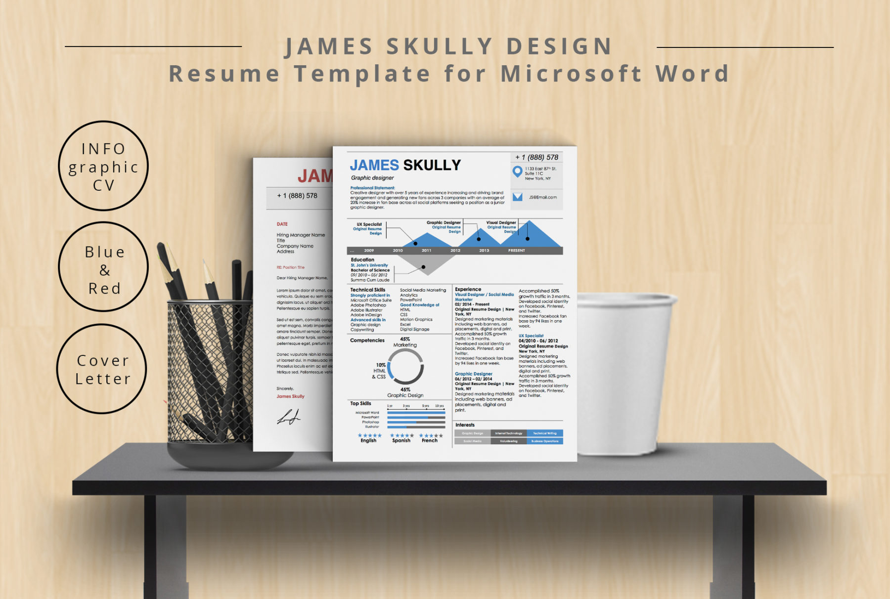 James Skully Resume Template Stand Out Shop