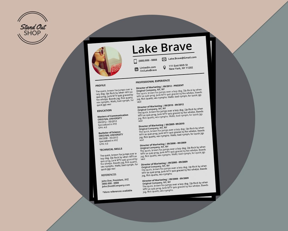 lake brave resume 5 pack