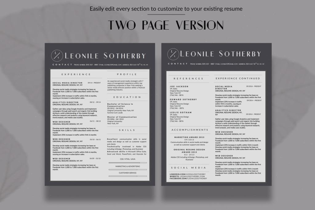 entrepreneur resume designs bundle 5 templates stand out shop