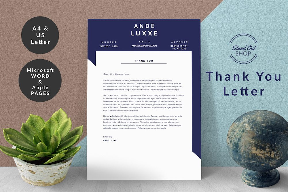 Ande Luxxe Thank You Letter Cover - 4