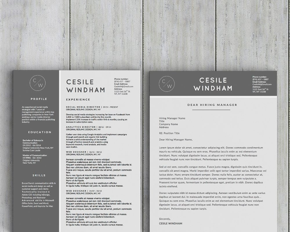 Cesile Windham Resume Template - Stand Out Shop