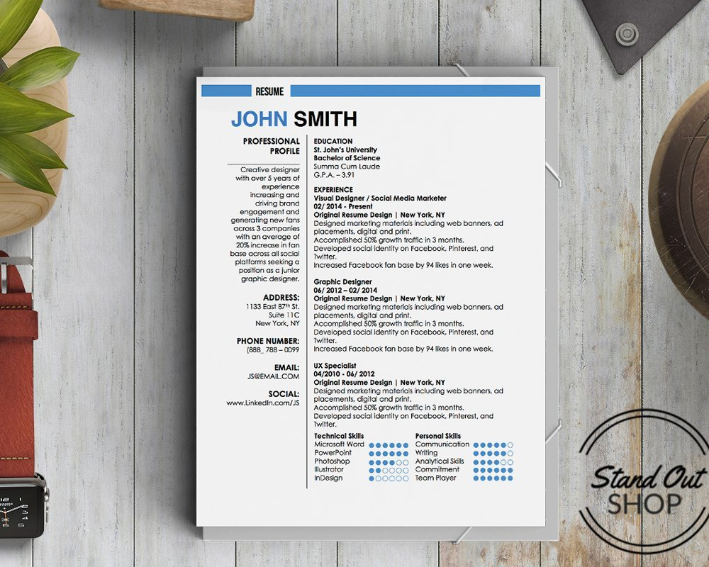 john smith resume template