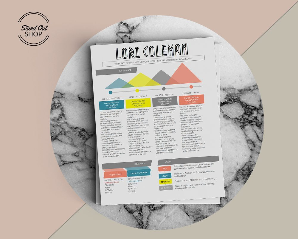 Lori Coleman Resume Template  Stand Out Shop