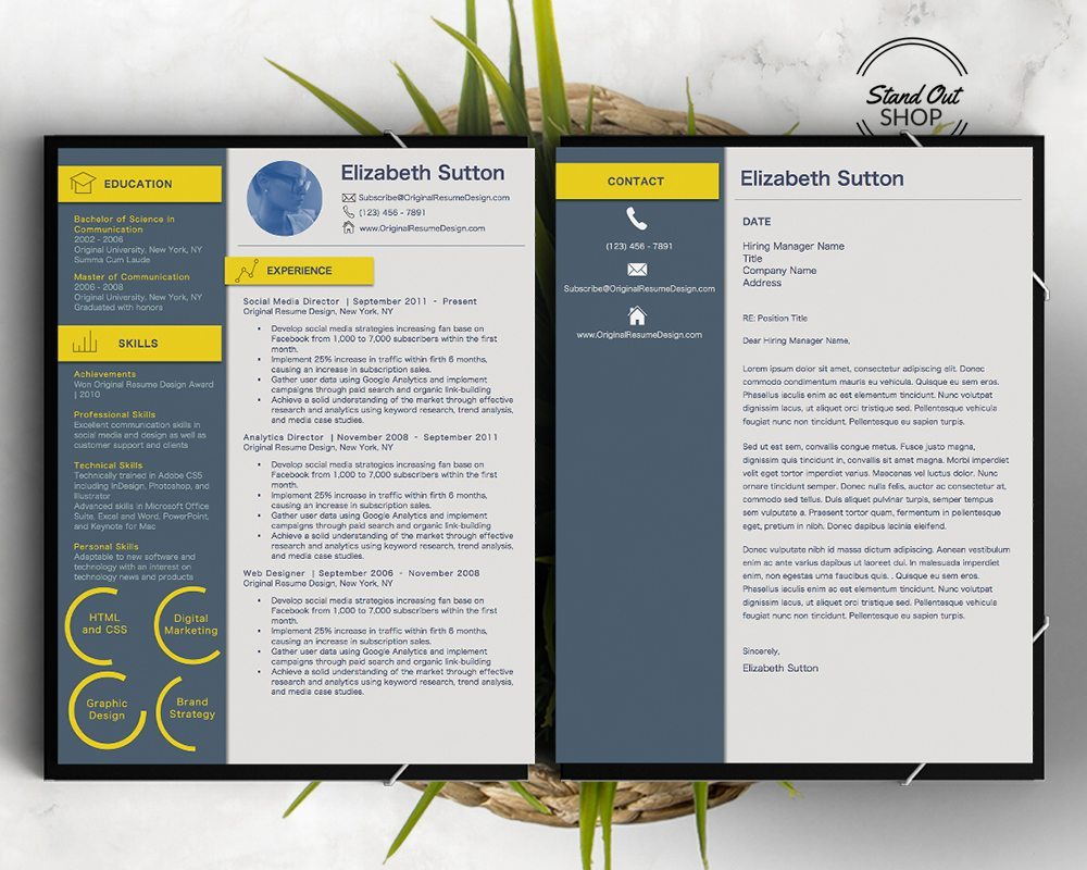 ui resume template