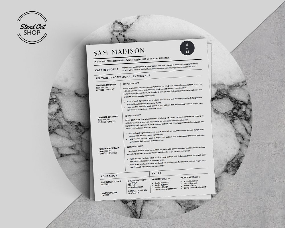 resume templates archives