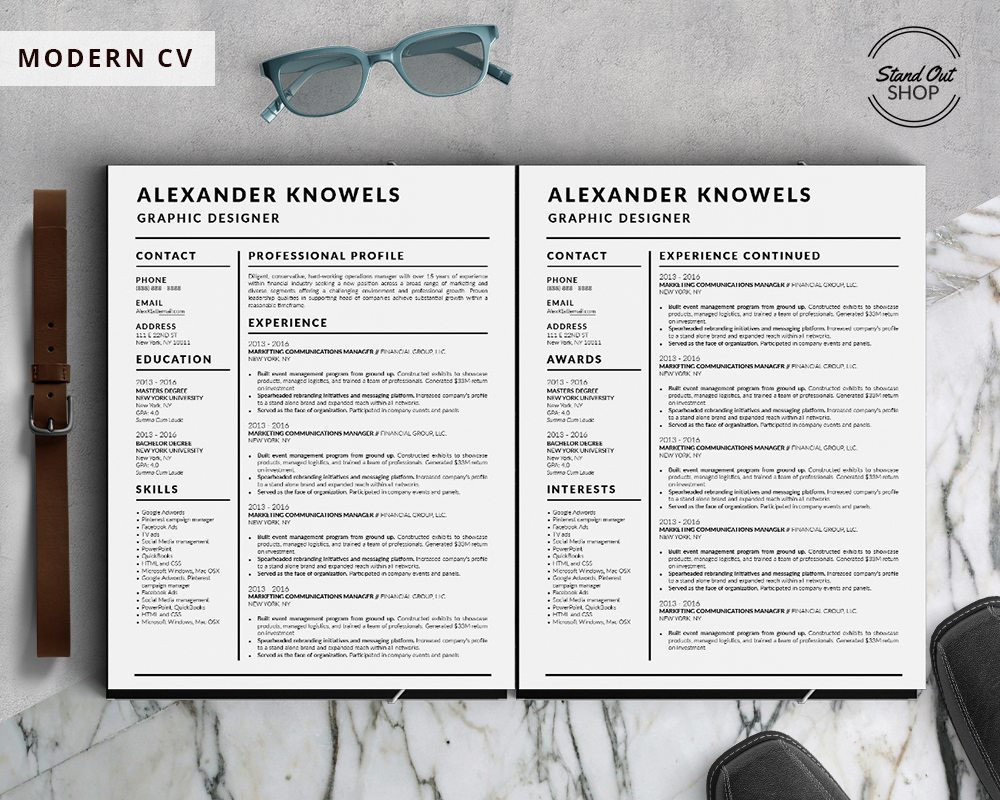 Best Clean And Simple Resume Templates Top