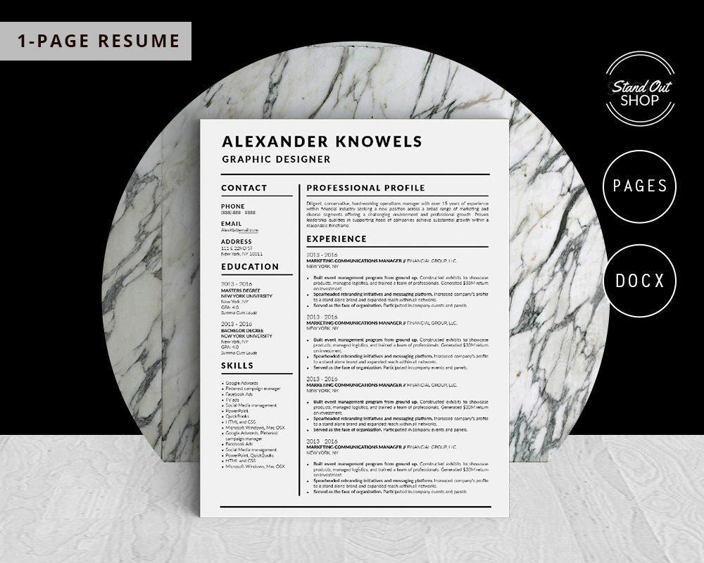 Alexander Knowels - Resume Template for Word - 5 Best Clean Resume Templates Word of 2019
