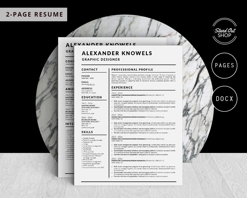 Alexander Knowels Resume 5 Pack - Stand Out Shop