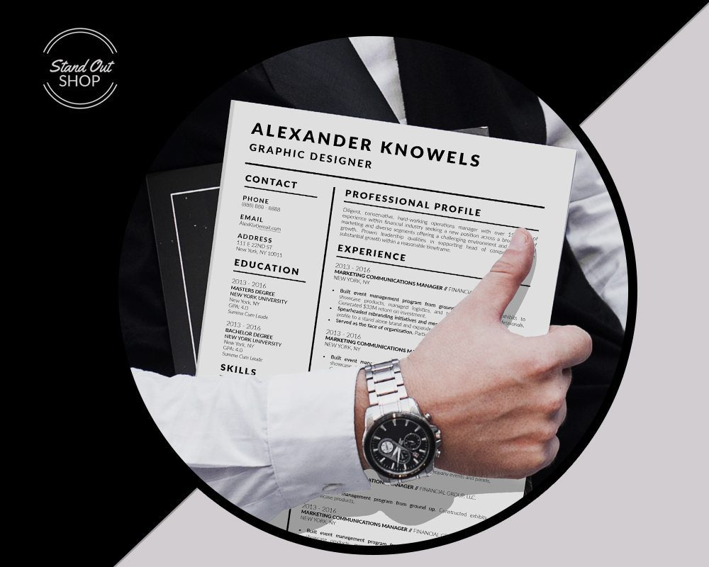 5 Best Clean Resume CV Resume Templates of 2910 - Alexander Knowels