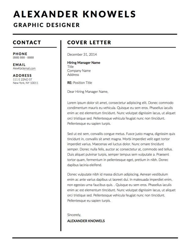 Alexander Knowels Resume Template 5 Pack for MS Word, Apple ...