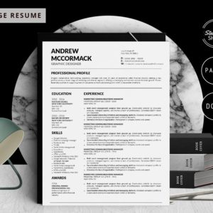 Andrew McCormack - Resume Template for Word - 5 Best Clean Resume Templates Word of 2019