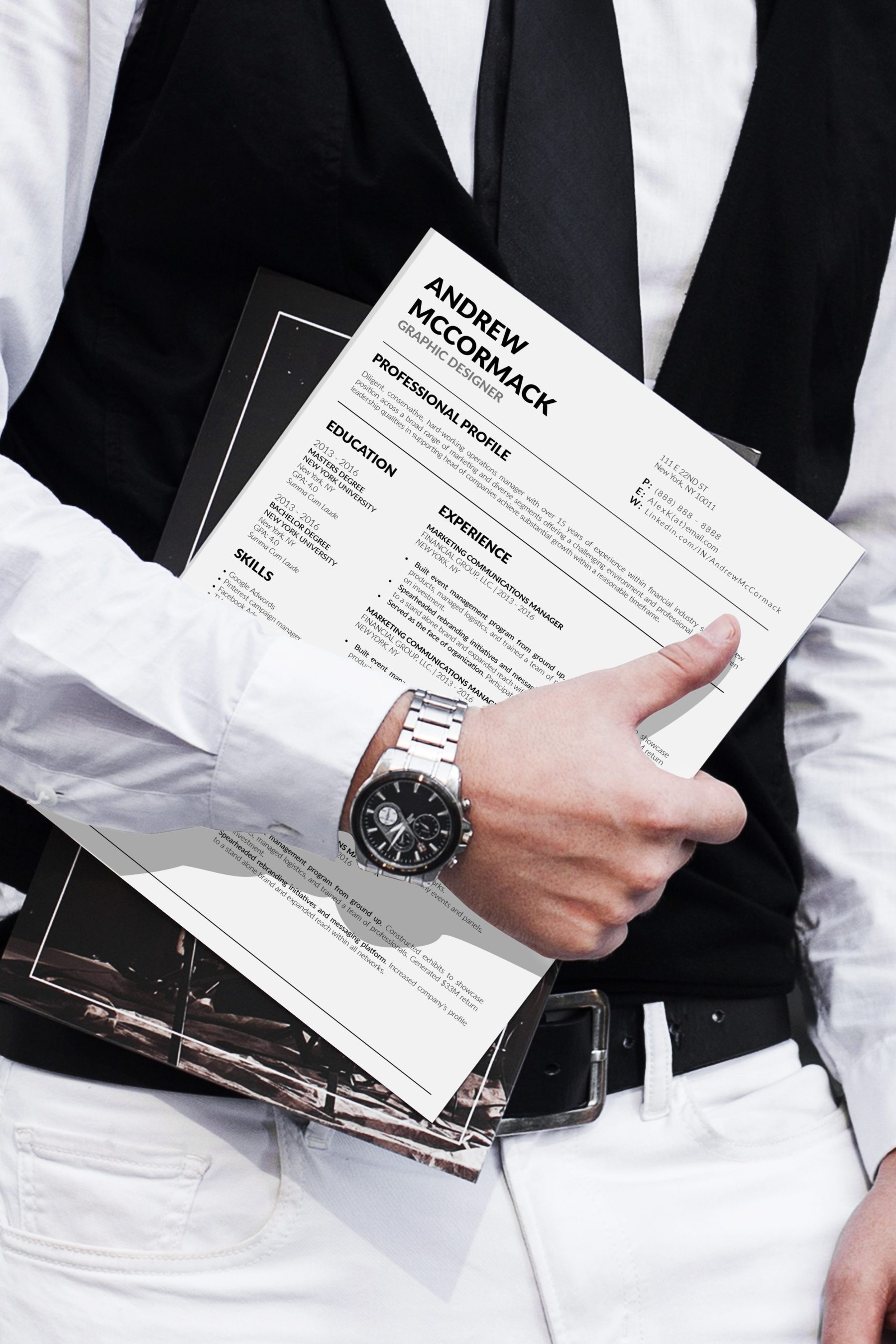 5 Best Clean Resume CV Resume Templates of 2910 - Andrew McCormack