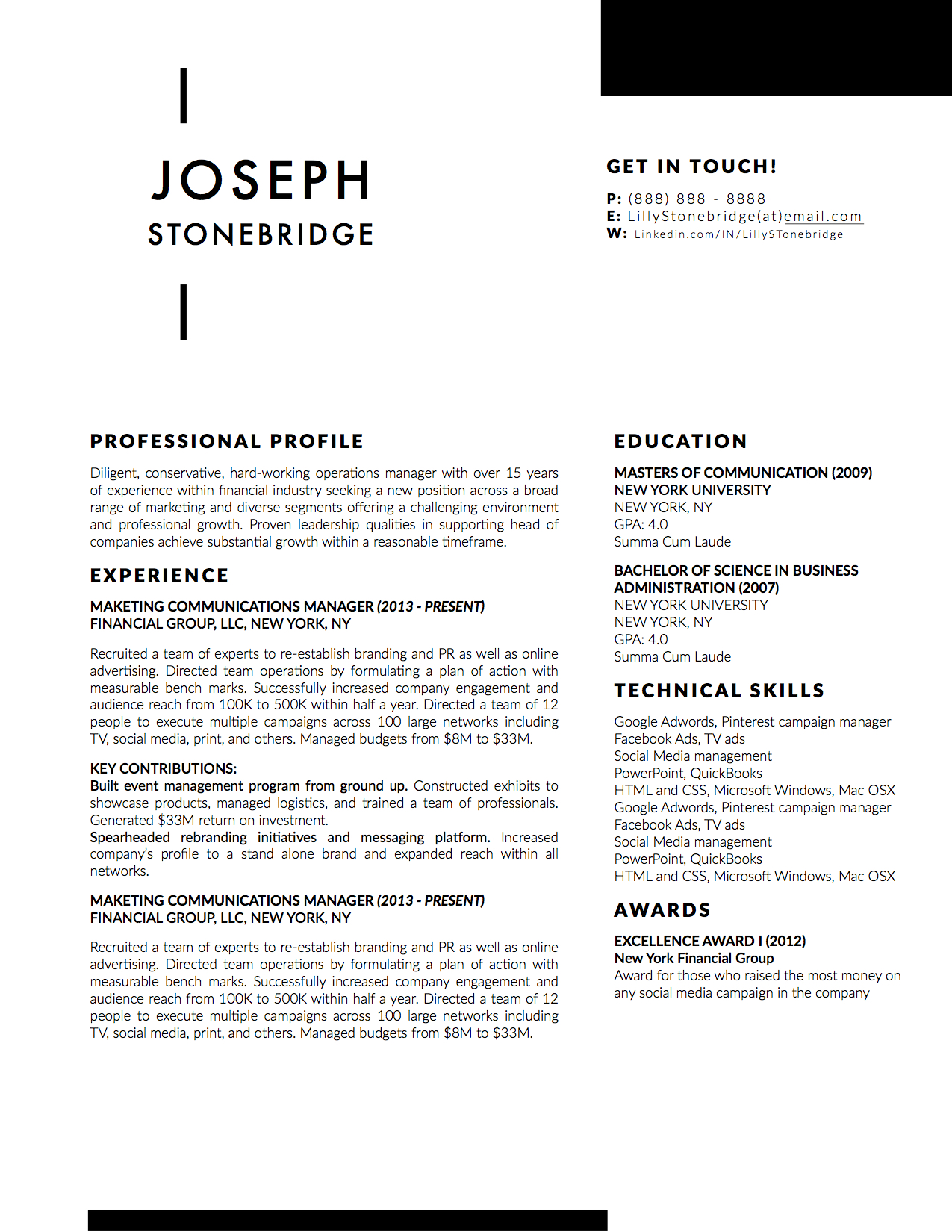 Joseph stonebridge resume template stand out shop joseph stonebridge downloadable resume cover template and cover letter template for microsoft word and apple spiritdancerdesigns