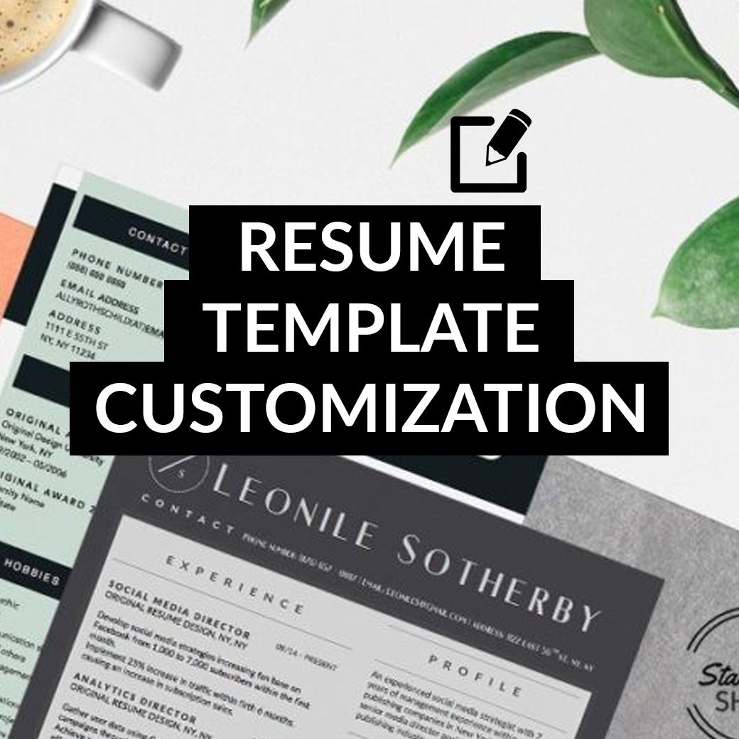 homeresume templatesblack white resumesresume template customization - Resume Customization Reasons