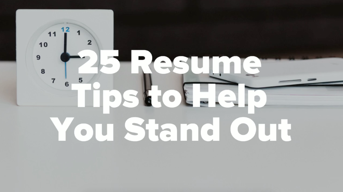 25 tips to help your resume stand out  video
