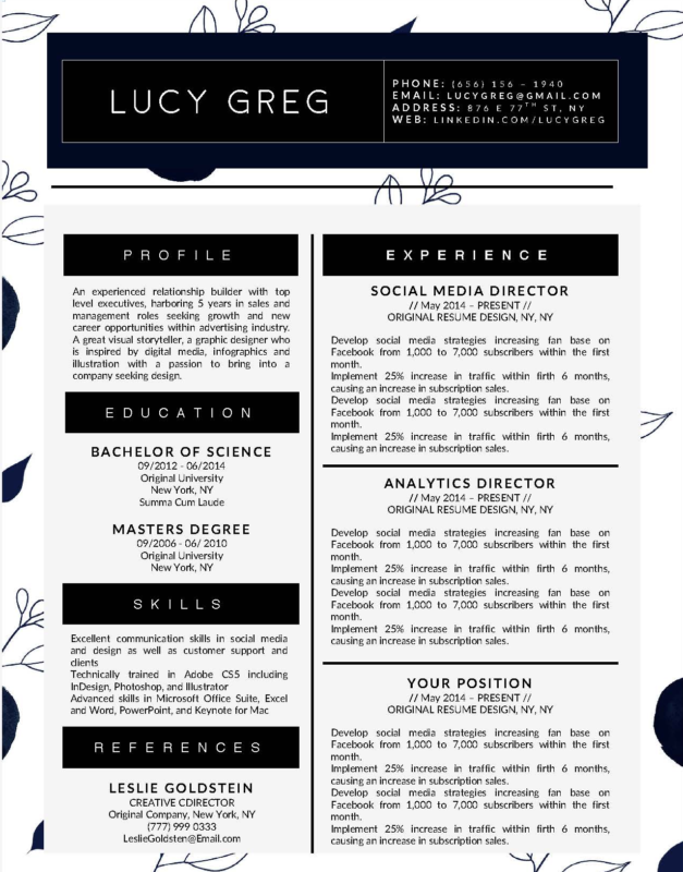 Lucy Greg - 15-15 Best Creative Resume Templates of 2018