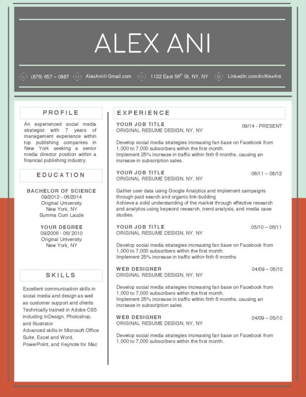 Alex Ani - 2-15 Best Creative Resume Templates of 2018