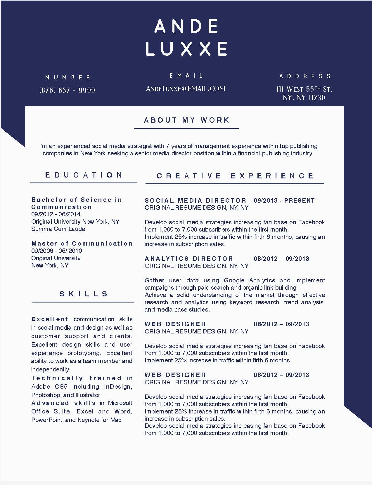 And Luxxe - 3-15 Best Creative Resume Templates of 2018