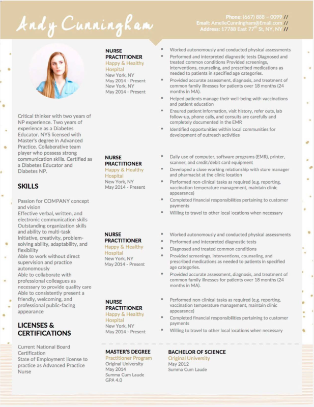 Andy Cunningham - 4-15 Best Creative Resume Templates of 2018